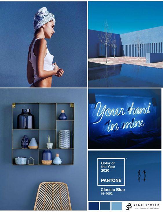 Barva roku 2020 Classic blue